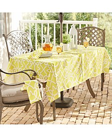 "Elrene Chase Geometric Stain Resistant Indoor Outdoor 60""X84"" Umbrella Tablecloth"
