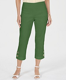 Toggle-Trim Pull-On Capris, Created for Macy's