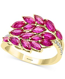 EFFY® Certified Ruby (2-1/3 ct. t.w.) & Diamond Accent Statement Ring in 14k Gold