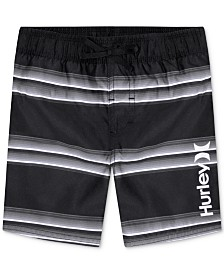 Hurley Big Boys Striped Board Shorts Swim Trunks