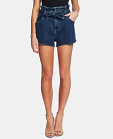 CeCe Denim Paperbag Shorts