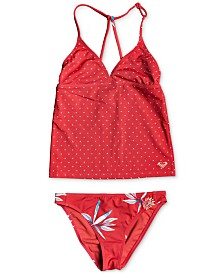 Roxy Big Girls 2-Pc. Mixed Print Tankini