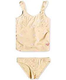 Roxy Toddler & Little Girls 2-Pc. Printed Tankini