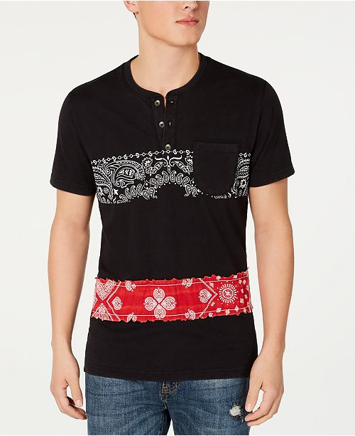 American Rag Men's Bandana Stripe Henley, Created for Macy's