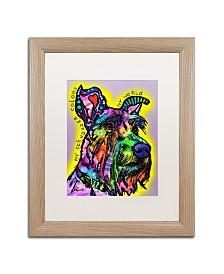 """Dean Russo 'My Schnauzer' Matted Framed Art - 16"""" x 20"""""""