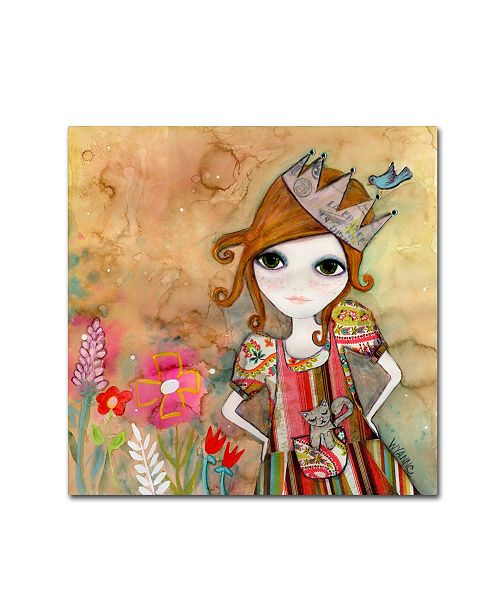 """Trademark Global Wyanne 'Big Eyed Girl I Am The Queen (No Words)' Canvas Art - 14"""" x 14"""""""