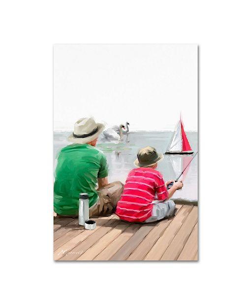 "Trademark Global The Macneil Studio 'Dad Son Boat' Canvas Art - 12"" x 19"""