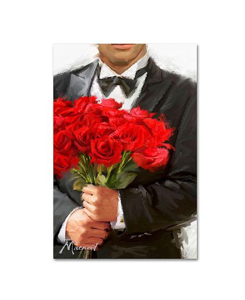 "Trademark Global The Macneil Studio 'Red Roses' Canvas Art - 12"" x 19"""