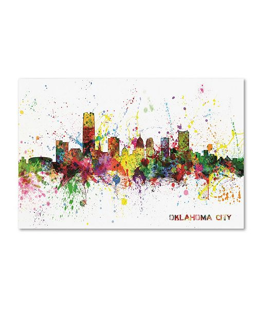 "Trademark Global Michael Tompsett 'Oklahoma City Skyline' Canvas Art - 12"" x 19"""
