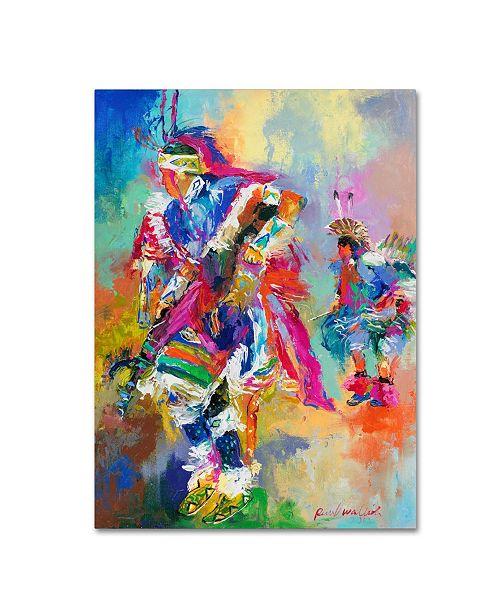"Trademark Global Richard Wallich 'Pow Wow' Canvas Art - 14"" x 19"""