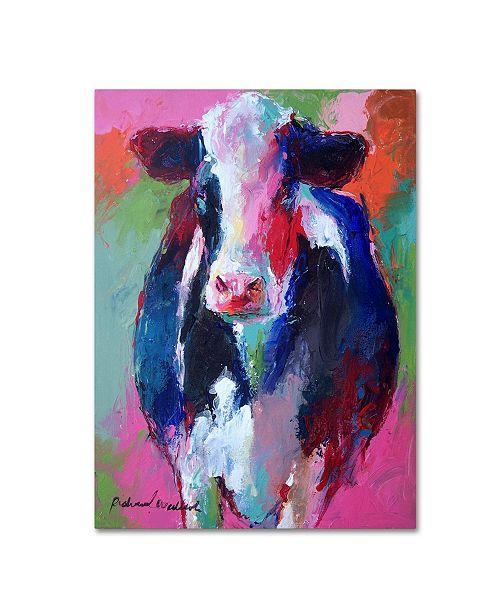 """Trademark Global Richard Wallich 'Art Pink Cow' Canvas Art - 14"""" x 19"""""""