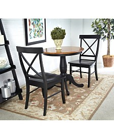 "International Concepts 30"" Round Table With 2 Chairs"