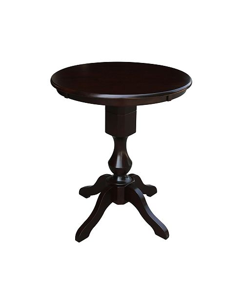 """WHITEWOOD INDUSTRIES/INTNL CONCEPTS International Concepts 30"""" Round Top Pedestal Table- 34.9""""H"""