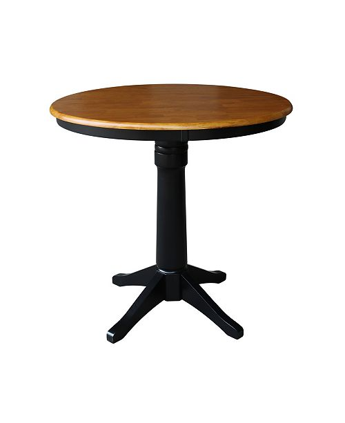 "WHITEWOOD INDUSTRIES/INTNL CONCEPTS International Concepts 36"" Round Top Pedestal Table - 34.9""H"