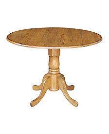 "International Concepts 42"" Round Dual Drop Leaf Pedestal Table"