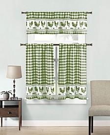 Hellen 3-Piece Kitchen Curtain Set