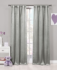 "Quincy 37"" x 84"" Faux Suede Curtain Set"