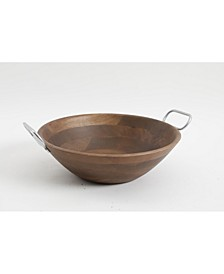 Wood Bowl with Handles