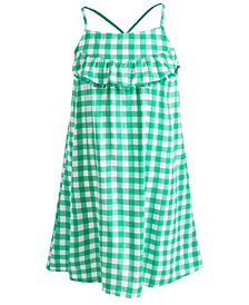 Epic Threads Toddler Girls Gingham-Print Ruffle Dress, Created for Macy's