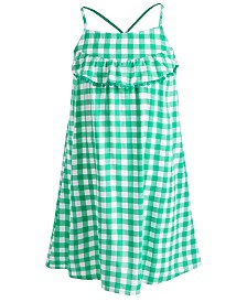 Epic Threads Little Girls Ruffle Gingham Dress, Created for Macy's