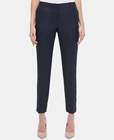 Tommy Hilfiger Linen Slim-Leg Ankle Pants
