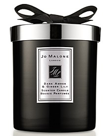 Dark Amber & Ginger Lily Home Candle, 7.1-oz.