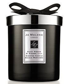 Jo Malone London Dark Amber & Ginger Lily Home Candle, 7.1-oz.