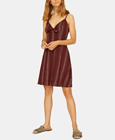 Sanctuary Take Away Striped Tie-Neck Dress
