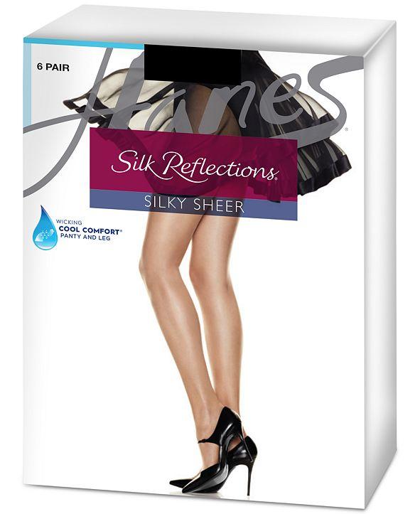 silk pantyhose sample Nancy shopping