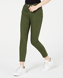 Juniors' High-Rise Colored Skinny Ankle Jeans