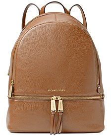 Rhea Pebble Leather Backpack