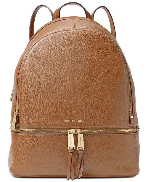 f574f3ec2a54 Michael Kors Rhea Pebble Leather Backpack & Reviews - Handbags ...