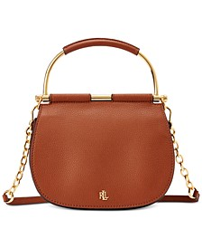 로렌 랄프로렌 Lauren Ralph Lauren Mason Pebbled Leather Satchel
