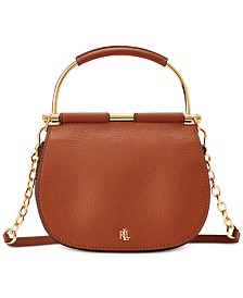 Lauren Ralph Lauren Mason Pebbled Leather Satchel