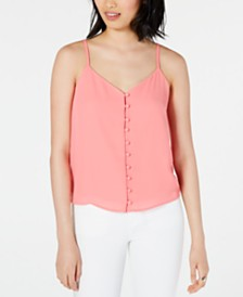 Maison Jules Button-Front Camisole, Created for Macy's