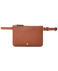 Lauren Ralph Lauren Pebbled Faux Leather Belt Bag