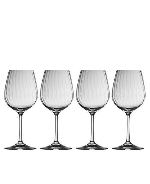 Belleek Pottery Erne Wine Glass Set of 4
