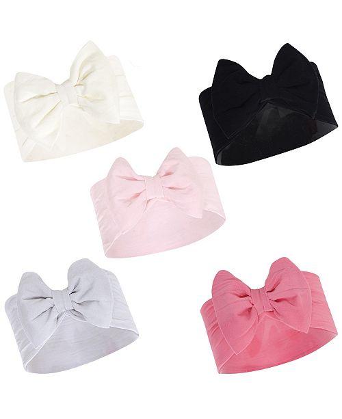 Hudson Baby Girl Headbands, 5-Pack