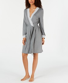 Charter Club Lace-Trim Knit Robe, Created for Macy's