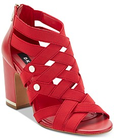 DKNY Heva Block-Heel Sandals, Created For Macy's