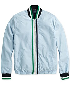 Tommy Hilfiger Adaptive Men's Tennis Bomber with Magnetic Zipper