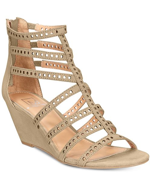 Material Girl Harriette Wedge Sandals, Created for Macy's