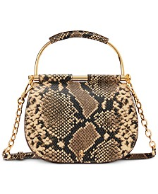 Lauren Ralph Lauren Mason Snake-Embossed Leather Satchel