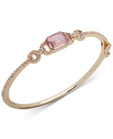 Lauren Ralph Lauren Stone & Crystal Hinged Bangle Bracelet