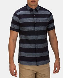 Hurley Men's Blocked Stripe Button-Down Shirt