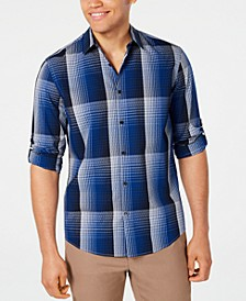 Men's Diamond Plaid Shirt, Created for Macy's