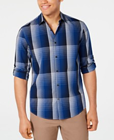 Alfani Men's Diamond Plaid Shirt, Created for Macy's