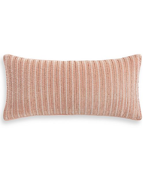 """Hotel Collection Classic Roseblush 12"""" x 26"""" Decorative Pillow, Created for Macy's"""
