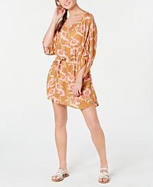 Juniors' Printed Loia Bay Cover Up Dress