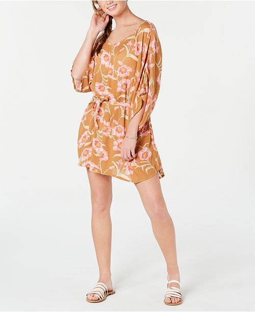 Roxy Juniors' Printed Loia Bay Cover Up Dress